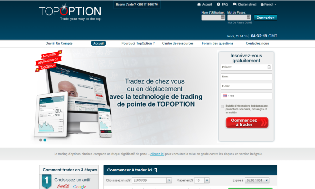 Trader d'option binaire formation