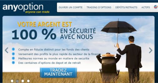 anyoption capture plateforme